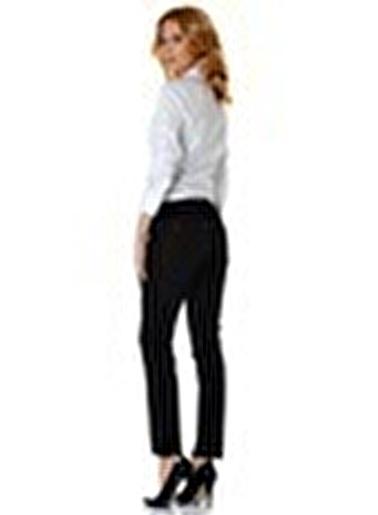 Ekol Ekol 3562103 Boru Paça Kadın Pantolon Siyah